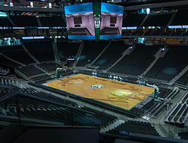 Inside Bucks Arena